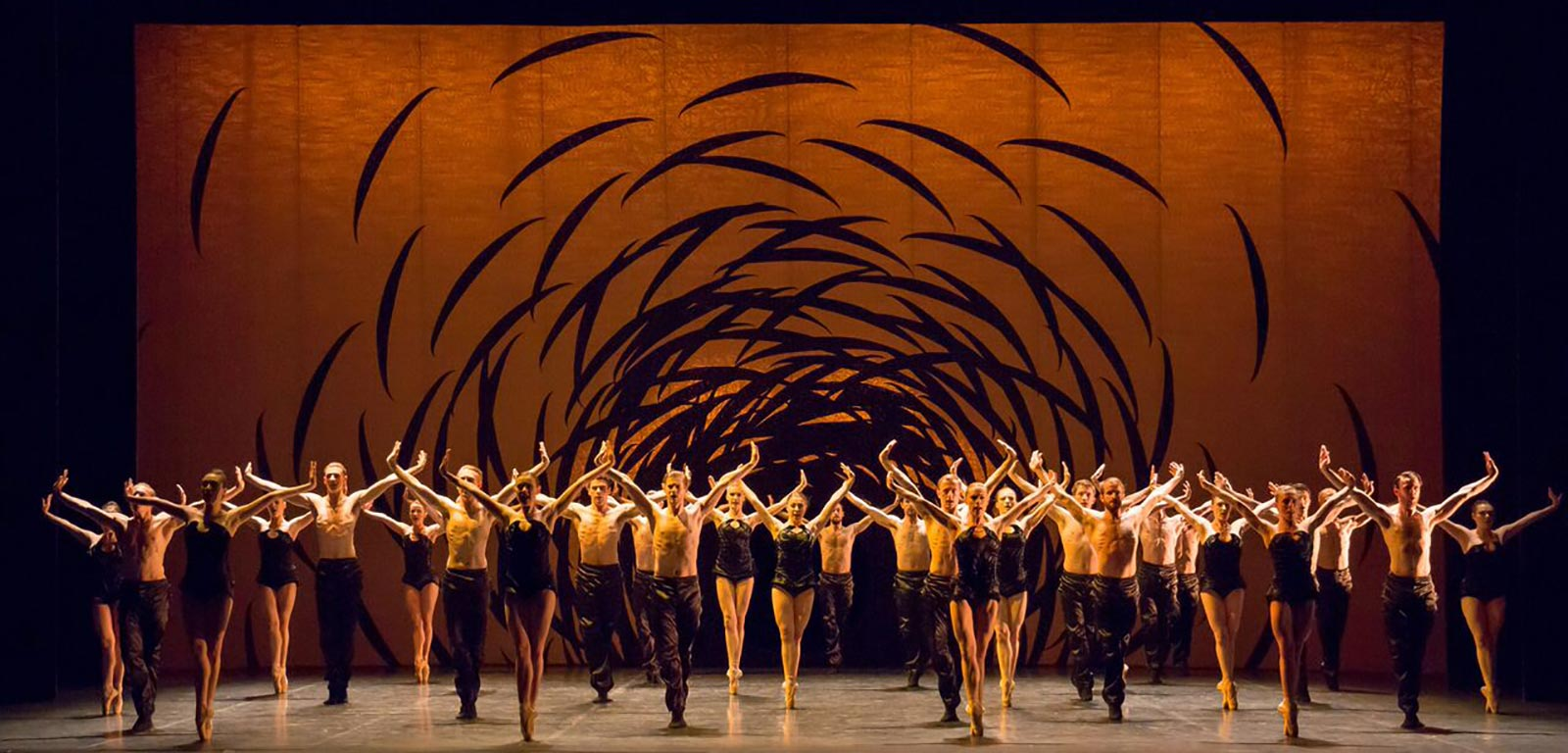 Scottish Ballet company in Emergence by Crystal Pite. Credit: Andy Ross